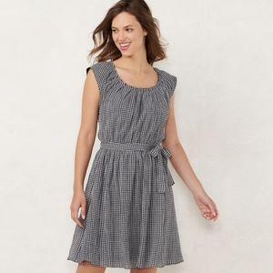 Lauren Conrad Pleated Neck Dress - Medium
